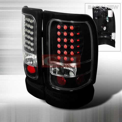DODGE 1994-2001 DODGE RAM PICK UP LED TAIL LIGHTS /LAMPS - BLACK 1 SET RH&LH PERFORMANCE