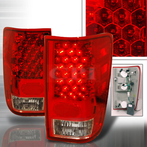NISSAN 2004-2006 NISSAN TITAN LED TAIL LIGHTS /LAMPS - RED 1 SET RH&LH PERFORMANCE 2004,2005,2006