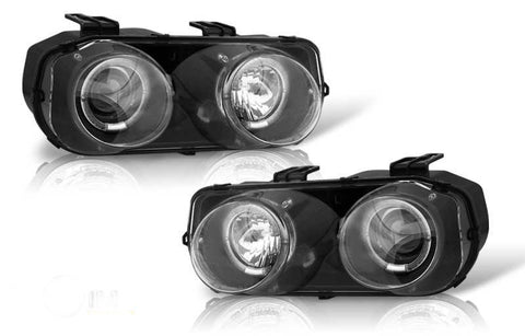 94-97 acura integra projector head light - black/clear performance