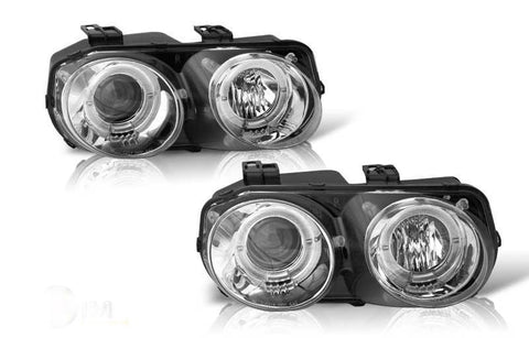 98-01 acura integra projector head light - chrome/clear performance