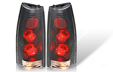 88-98 CHEVY CK ALTEZZA TAIL LIGHT - BLACK / CLEAR (R001-BLACK) performance