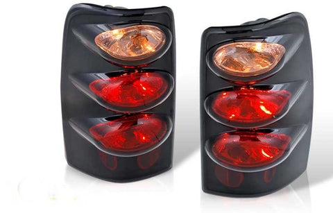 00-06 CHEVY SUBURBAN / TAHOE ALTEZZA TAIL LIGHT - BLACK / CLEAR(RG003-BLACK) performance