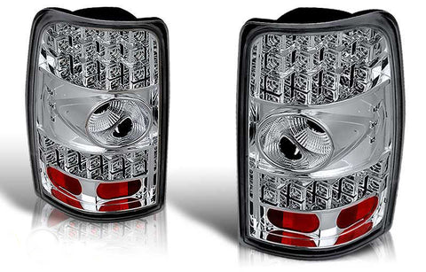 00-06 CHEVY TAHOE / SUBURBAN / YUKON LED TAIL LIGHT - CHROME/CLEAR performance