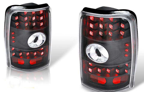 00-06 CHEVY TAHOE / SUBURBAN / YUKON LED TAIL LIGHT - BLACK/CLEAR performance