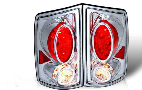 02-06 DODGE RAM PICK UP ALTEZZA TAIL LIGHT - CHROME / CLEAR (R019-C) performance