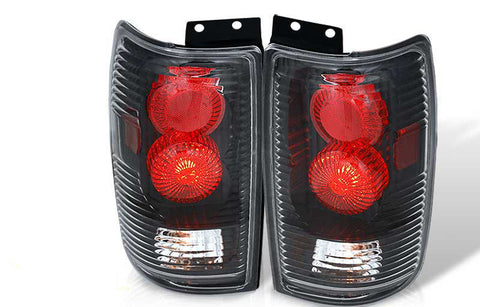 97-02 FORD EXPEDITION ALTEZZA TAIL LIGHT - BLACK / CLEAR (R005-BLACK) performance