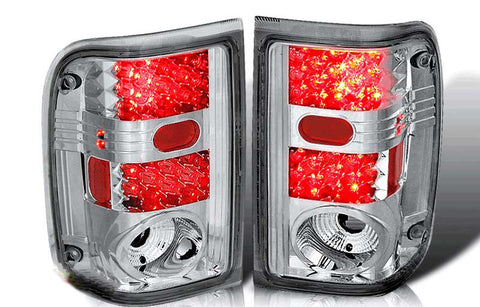 93-99 FORD RANGER LED TAIL LIGHT - CHROME/CLEAR performance