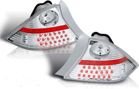01-03 HONDA CIVIC 2DR LED TAIL LIGHT - CHROME/CLEAR performance