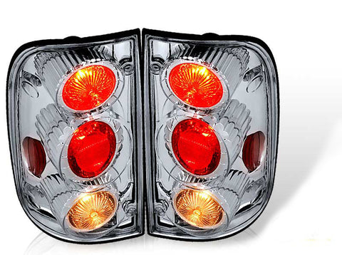 01-04 TOYOTA TACOMA ALTEZZA TAIL LIGHT - CHROME / CLEAR (R017-C) performance