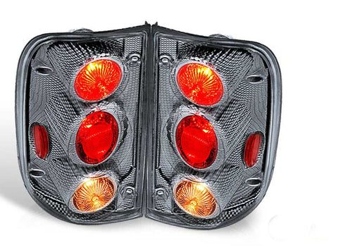 01-04 TOYOTA TACOMA ALTEZZA TAIL LIGHT - CARBON FIBER / CLEAR(R017-CF) performance