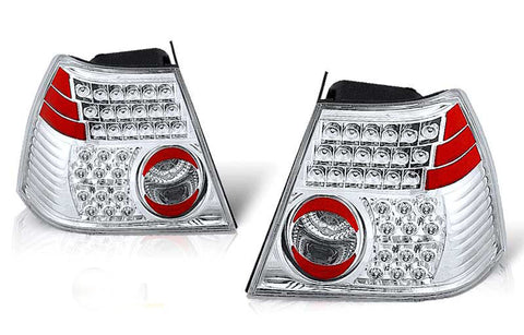 99-02 VOLKSWAGEN JETTA LED TAIL LIGHT - CHROME/CLEAR performance