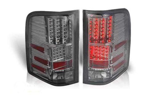 07-09 CHEVY SILVERADO LED TAIL LIGHT - CHROME / SMOKE performance
