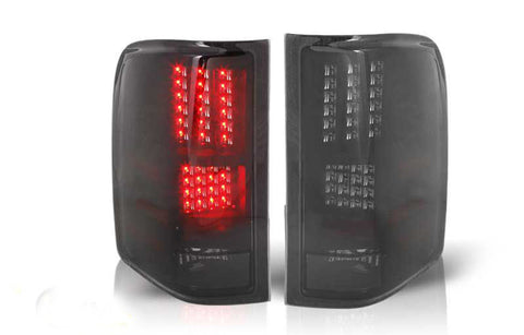 07-09 CHEVY SILVERADO LED TAIL LIGHT - BLACK / SMOKE performance