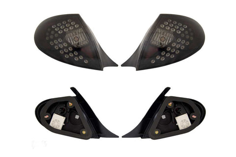 00-02 DODGE NEON LED TAIL LIGHT - BLACK/SMOKE performance