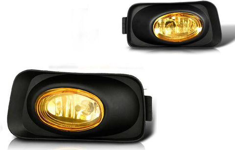 03-06 acura tsx oem style fog light - yellow (wiring kit included) performance