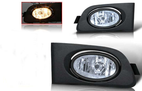 01-03 honda civic 2/4 dr oem style fog light - clear (wiring kit included) performance