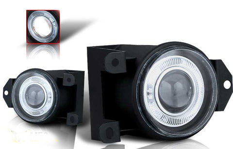 00-05 gmc yukon halo projector fog light - clear performance