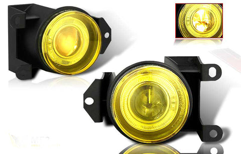 00-05 gmc yukon halo projector fog light - yellow performance