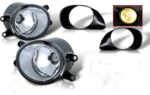 06-08 toyota yaris 3 dr oem style fog light - clear (wiring kit included) performance
