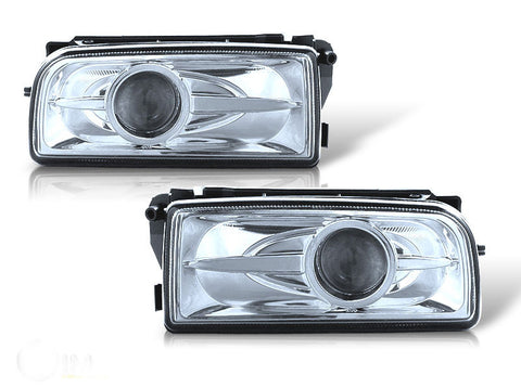 92-98 bmw e36 halo projector fog light (clear) performance