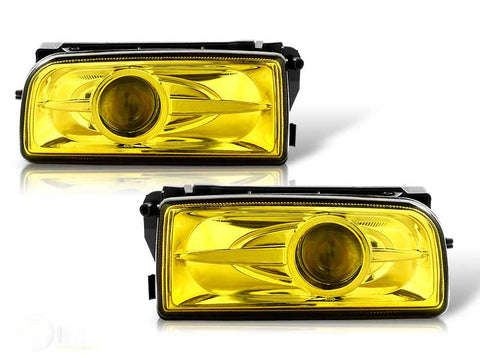 92-98 bmw e36 halo projector fog light (yellow) performance