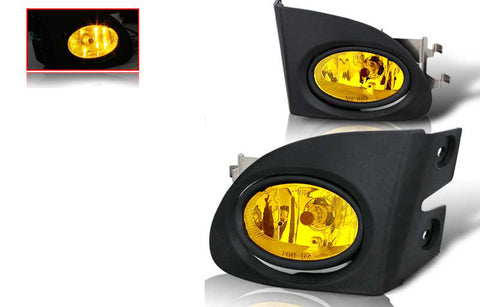 02-05 honda civic si 3 dr oem style fog light - yellow (wiring kit included) performance