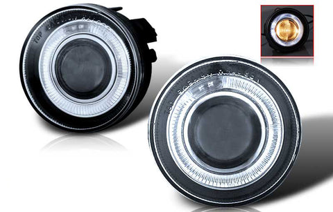 01-04 dodge dakota / durango halo projector fog light (clear) performance