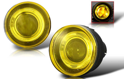 01-04 dodge dakota / durango halo projector fog light (yellow) performance