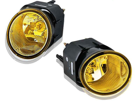 01-04/02-04/00-01 nissan frontier / xterra / maxima oem style fog light - yellow (wiring kit included) performance