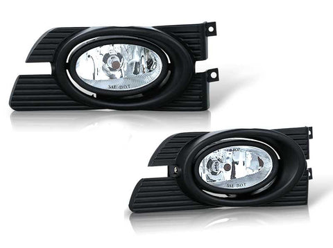 01-02 honda accord 4 dr oem style fog light - clear (wiring kit included) performance
