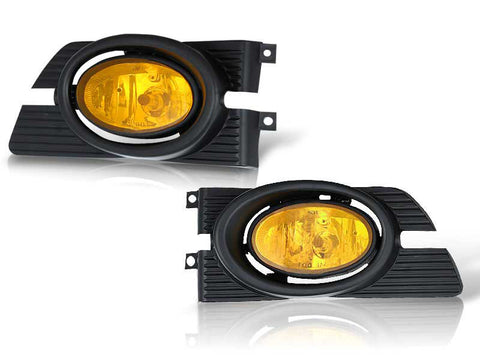 01-02 honda accord 4 dr oem style fog light - yellow (wiring kit included) performance