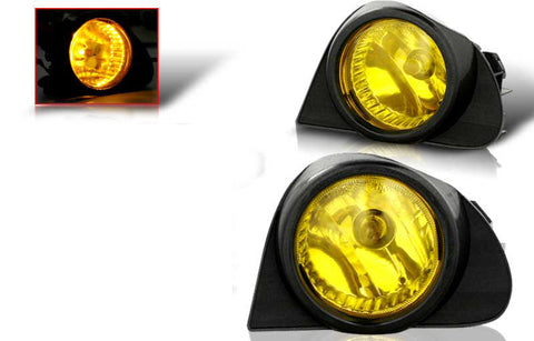 03-05 toyota echo oem style fog light - yellow (wiring kit included) performance