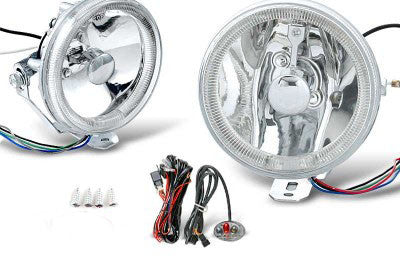 4 Inch Round Universal Fog Light W/ Halo Ring Performance-v