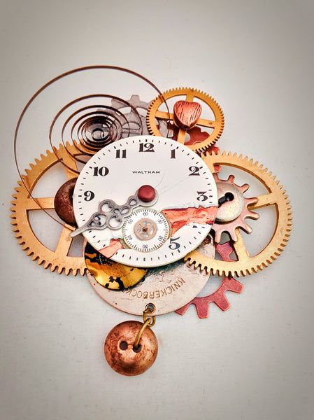 Steampunk jewelry pin