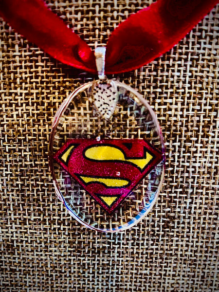 Superman Inspired Choker Pendant