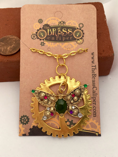 Suffragette Inspired Necklace - The Brass Caliper - 5