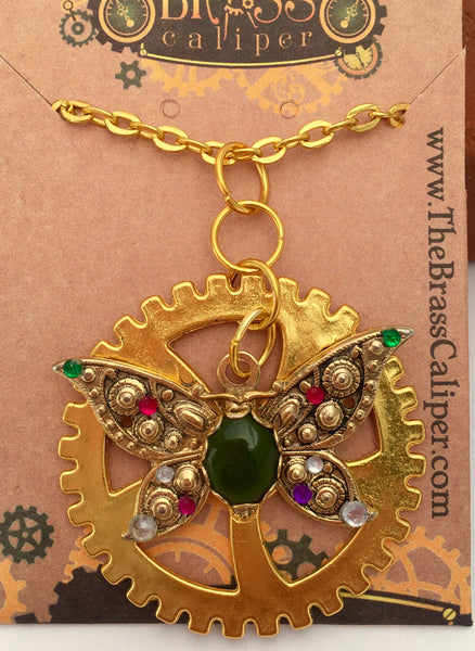 Suffragette Inspired Necklace - The Brass Caliper - 4