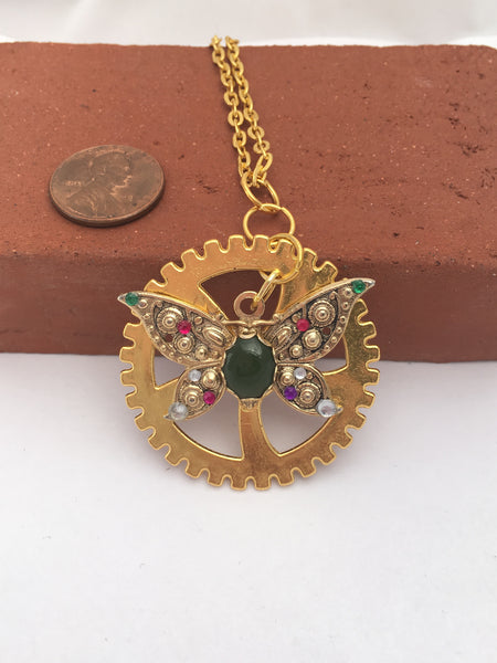 Suffragette Inspired Necklace - The Brass Caliper - 3