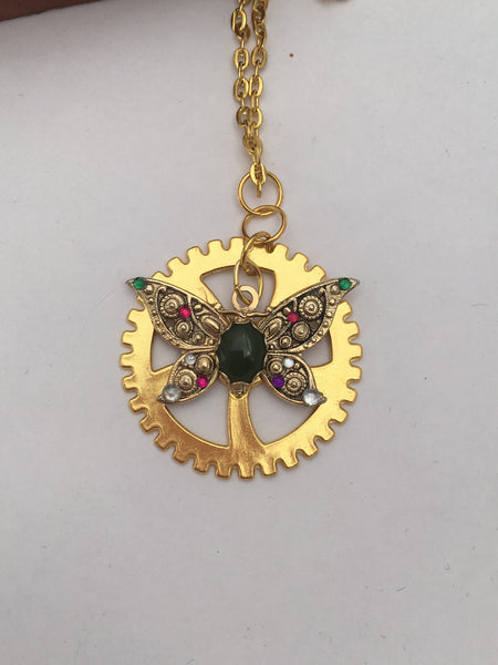 Suffragette Inspired Necklace - The Brass Caliper - 2