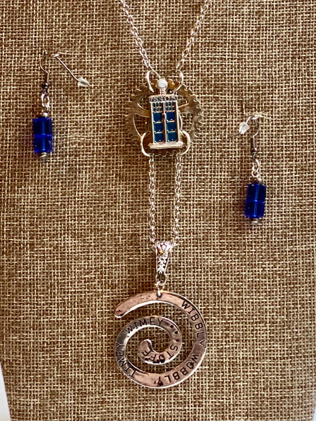 Doctor Who Inspired Necklace Earrings Set
