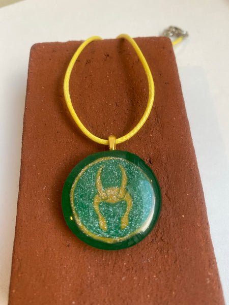 Loki Inspired Resin Pendants