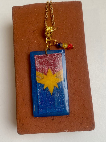 Captain Marvel Inspired Pendant
