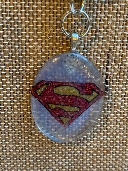 Superman Inspired Necklace Pendant Set