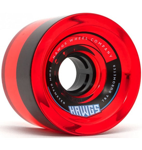 70's Hawgs 70 mm 78 A Clear Red