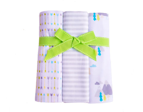 3 Pack Cotton Flannelette Wraps