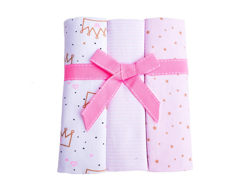 3 Pack Girl Cotton Flannelette Wraps