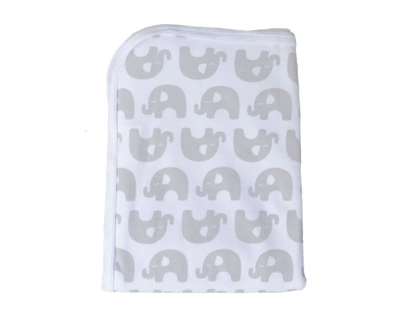 Baby Elephant Jersey Swaddle Wrap