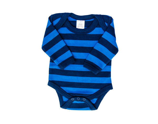 Baby Boy Navy and Blue Long Sleeve Bodysuit