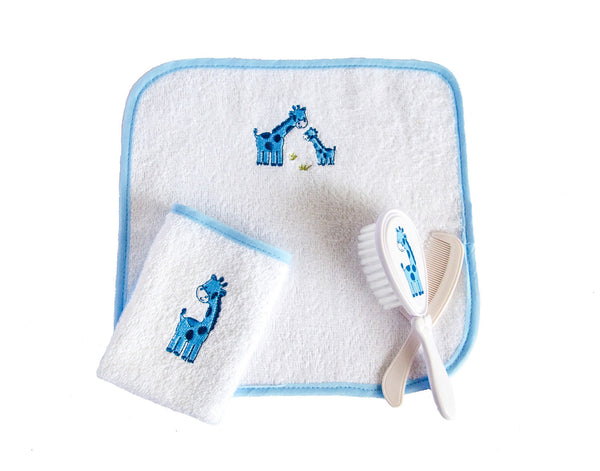 Baby Boy Brush Set with Wash towels