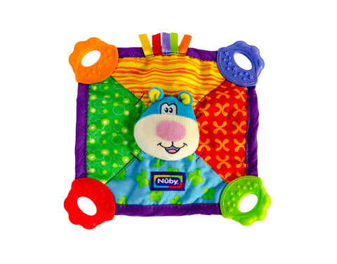 Nuby Baby Teddy Bear Teether Blanket